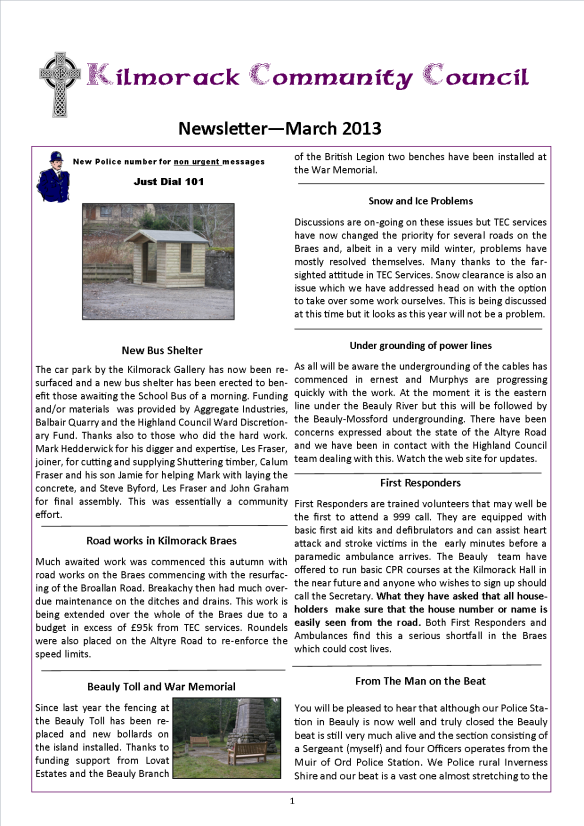 KCC Newsletter